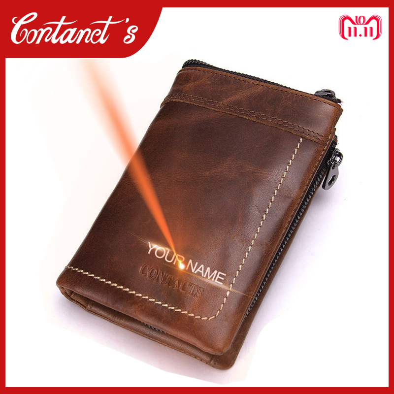 Brand Men's Trifold Wallet Genuine Leather Cowhide Male Coin Purse Removed Short Zipper Money Bag For Dollar Price Photo Holder men wallet cowhide genuine leather purse money clutch card holder coin short on cover black dollar price 2017 male cash wallets