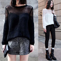 Spring Summer knitted Women Sweater Sexy Cute Hollow Out Women Sweaters And Pullovers Crochet 2015 New Women Pullover Jumper