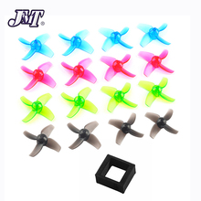 JMT 40mm 4-Paddle PC Propellers 1.0mm Hole CW CCW + Upgraded Parts Lipo Battery Fixed Mount Holder For Mobula7 FPV Moula 7 Drone