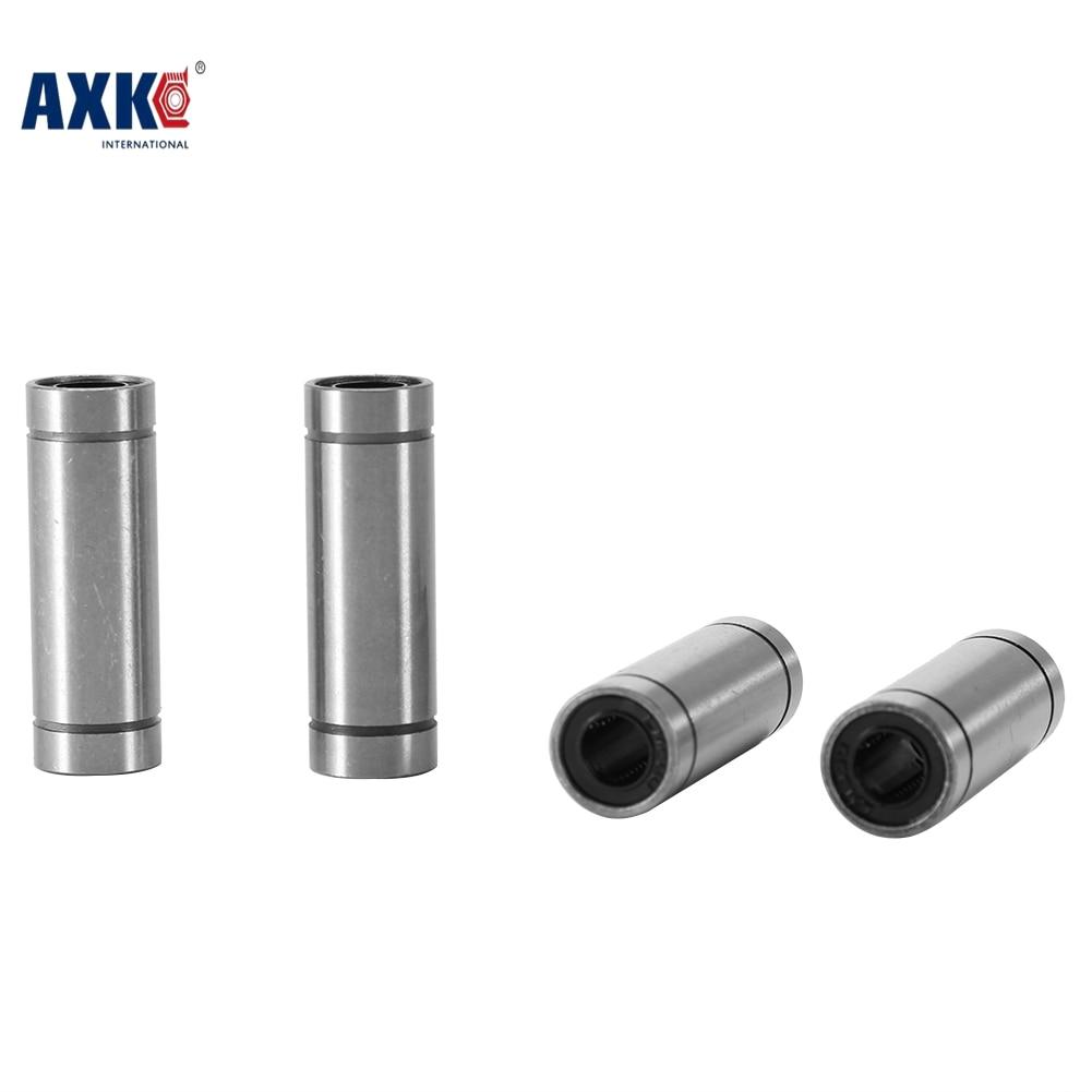 AXK 2pcs LM8LUU 8mm Longer Linear Ball Bearing Bushing Linear Bearings CNC parts 3d printer parts LM8L hot sale 1pc lm12uu linear bushing 12mm cnc linear bearings