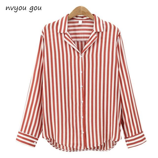 2018 Новый Демисезонный Для женщин блузка цветок v-образным вырезом с длинным рукавом рубашки работы Для женщин офисные Топы полосатая блуза для бизнеса