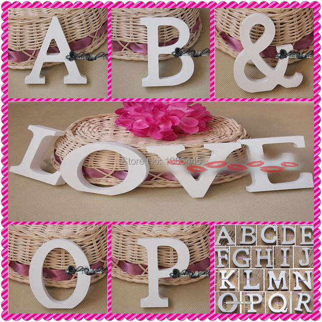 3D LOVE /HOME Letters Decoration A~Z U0026 Personalized Name Plaques Letters  Wall Door Art Wedding Photo Props Home Decor Kids Rooms
