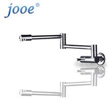 Jooe отделка складной Кухонная мойка кран настенное крепление Одной ручкой Chrome водопроводный кран смеситель для кухни латунь гибкая кухонный кран
