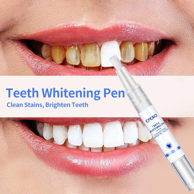 EFERO White Teeth Whitening Pen Tooth Gel Whitener Bleach Remove Plaque Stains Dental Tools Oral Hygiene Teeth Cleaning Serum