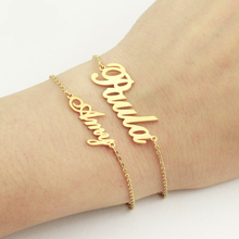 GORGEOUS TALE Personalized Name Bracelet For Women Jewelry Romantic Gifts Customized Silver Stainless Steel Chains