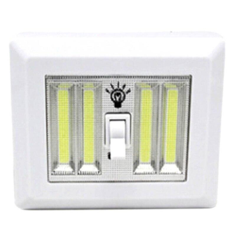 Mini LED Cordless Lamp Switch Wall Night Lights Home Use Bedroom Wardrobe Garage Closet Light Emergency Repair