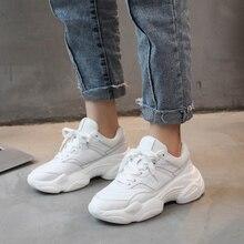 Femme printemps automne confortable respirant PU + Mesh chaussures plates femme plate forme baskets femmes Chaussure chaussures décontractées Drop Shop