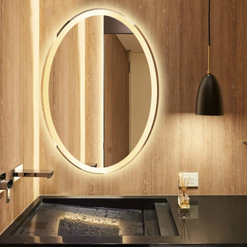 Bathroom Oval shape Led Wall Sconce Mirror Led Lamp Oval Mirror Light Toilet Makeup Mirror Led wall light with Touch switch 2