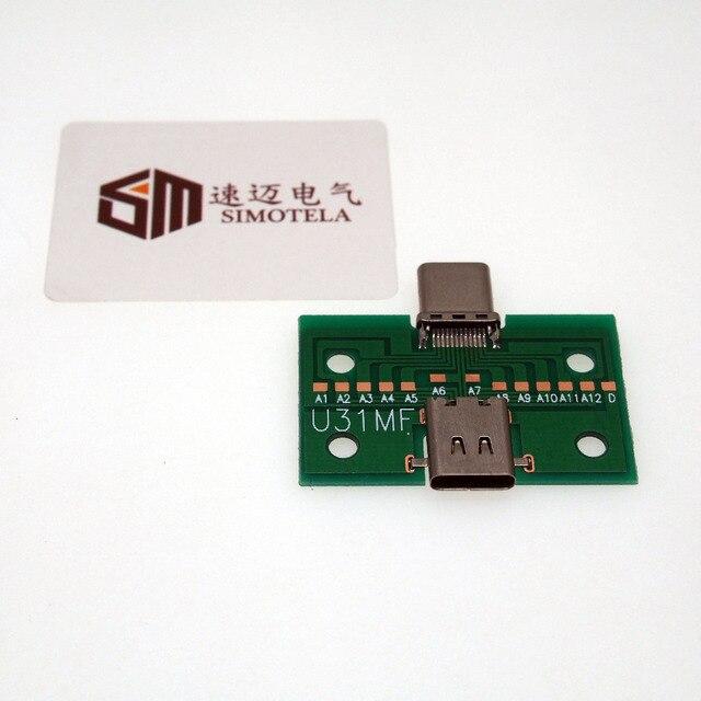 高品質usb3.1タイプcオスメスコネクタアダプタTYPE-Cテストボード