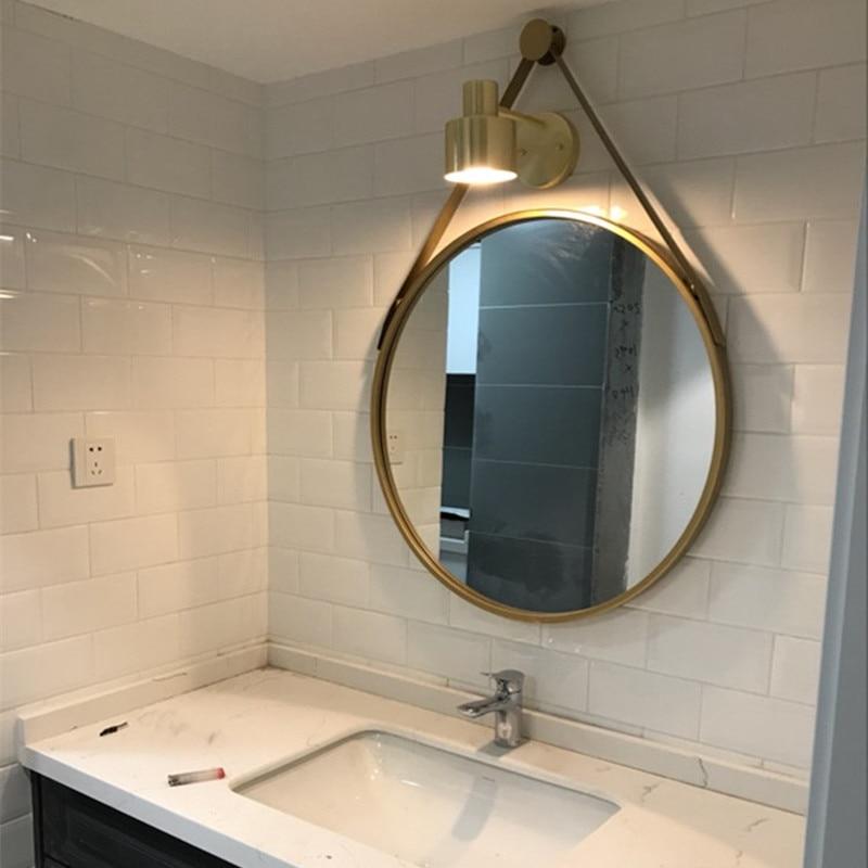 European-style bathroom mirror makeup bathroom mirror wall mirror toilet bathroom round mirror LO681031