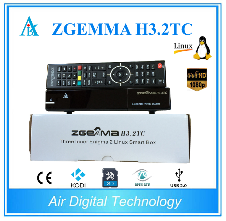 5pcs/lot Dual Core Zgemma H3.2TC DVB-S2+2*DVB-T2/C satellite receiver Multistream,USB WIFI,SD Card supporting 5pcs lot best offer 751mhz cpu zgemma star h2 hd combo dvb s2 dvb t2 c satellite receiver low cost in stock now