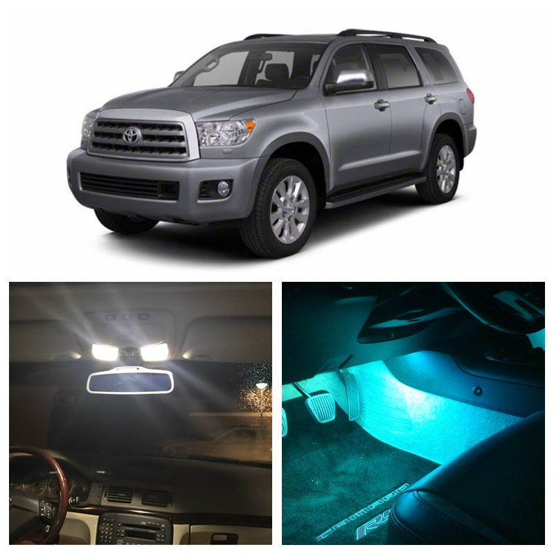 12Pcs Ice Blue Bulbs White LED Lights Interior Package Kit For Toyota Sequoia 2008-2015 Map License Plate Light Toyota-EF-33 shanghai chun shu chunz chun leveled kp1000a 1600v convex plate scr thyristors package mail