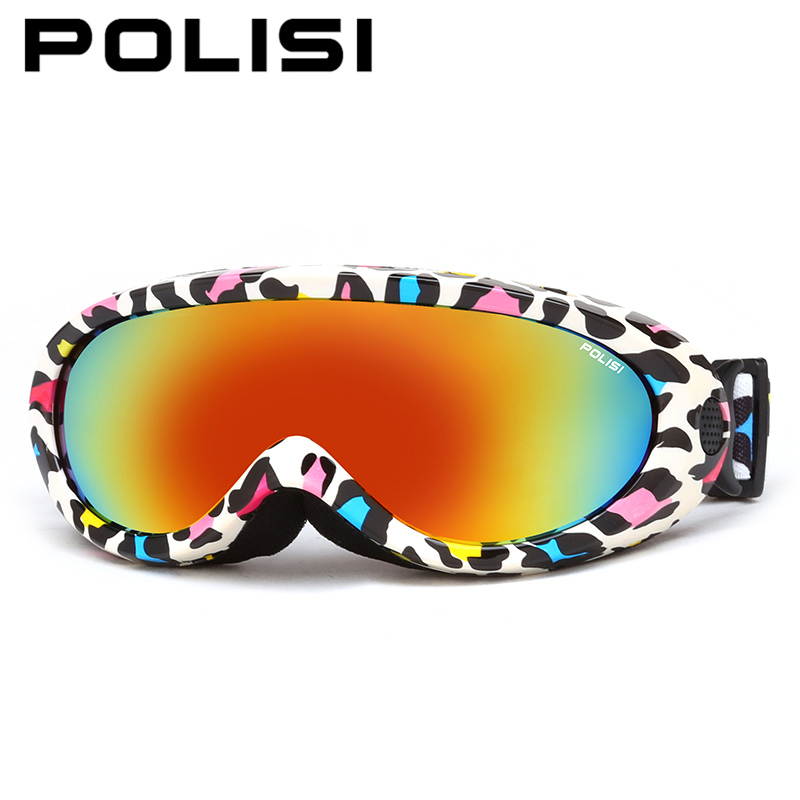 POLISI Children Kids Ski Snowboard Goggles UV400 Outdoor Sport Windproof Skate Glasses Boys Girls Winter Anti-Fog Skiing Eyewear