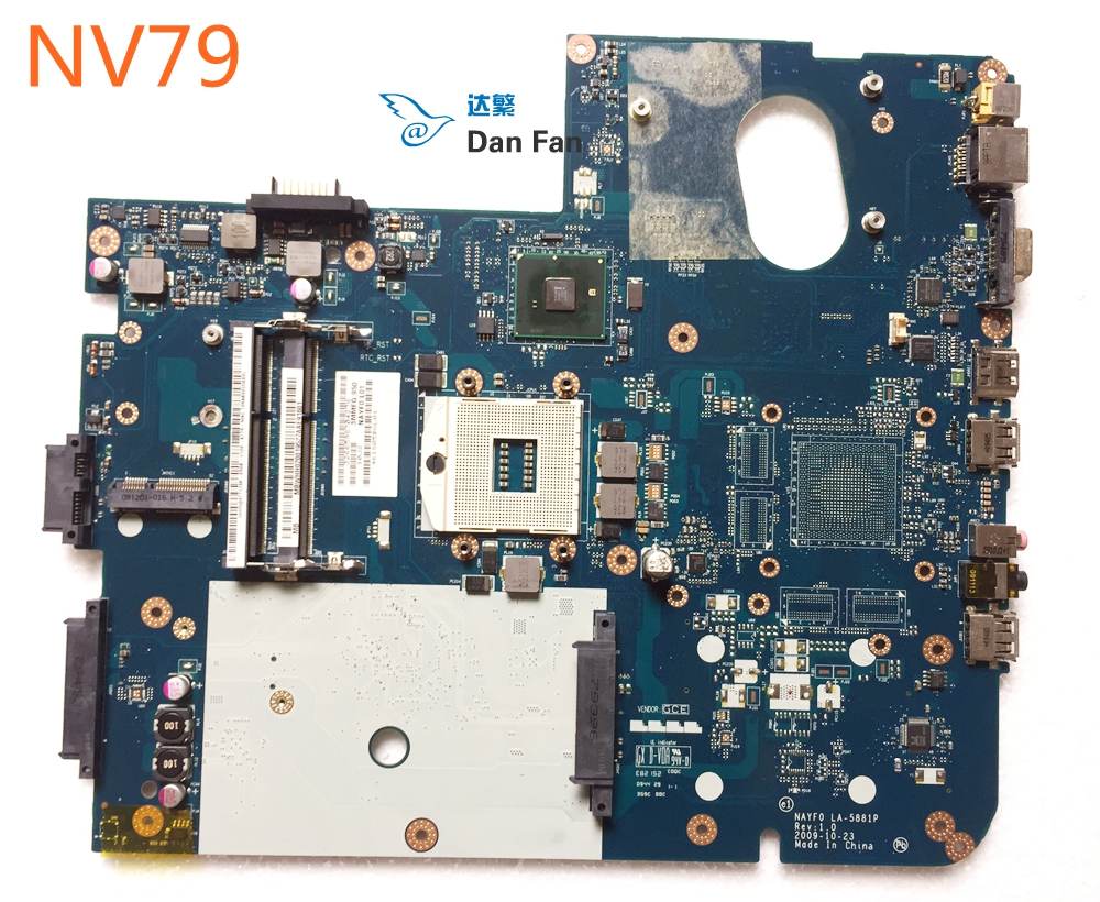 For Gateway NV79 Laptop Motherboard NAYF0 LA-5881P MBWHH02001 Mainboard 100%tested fully work