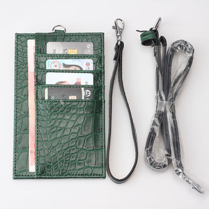 Image 2 - XMESSUN 2020 Genuine Leather Phone Card Holder Crocodile Pattern Cow Leather With Lanyardr Pouch Phone Bag For iPhone  XS Max XR