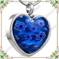 CMJ8470 millefiori de cristal collar de los colgantes de moda Collar de joyas cremación memorial keepsakes en azul agraciada