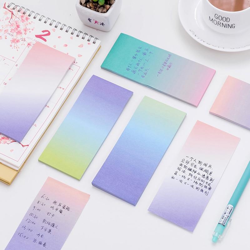 Kreativní barva Dlouhá sekce Gradient N Times Sticky Notes Can Tear - Bloky a záznamní knihy - Fotografie 5