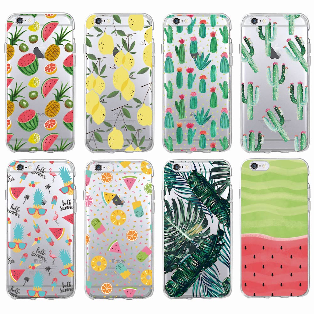 19b10fc9841f For iPhone 7 7Plus 6S 5S 8Plus X XS Max SAMSUNG Summer Tropical Pineapple  Lemon Cactus