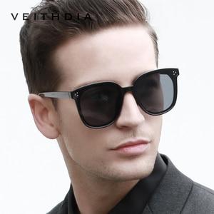 Image 2 - Veithdia Brand Fashion Zonnebril Gepolariseerde Meekleurende Lens Vintage UV400 Zonnebril Voor Mannen/Vrouwen Oculos De Sol V8510