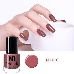 Image 3 - NEE JOLIE 8ml lakier do paznokci różowy szary seria kawy szybkoschnące lakier do paznokci 72 zwykłe kolory na lato zdobienie paznokci dekoracje