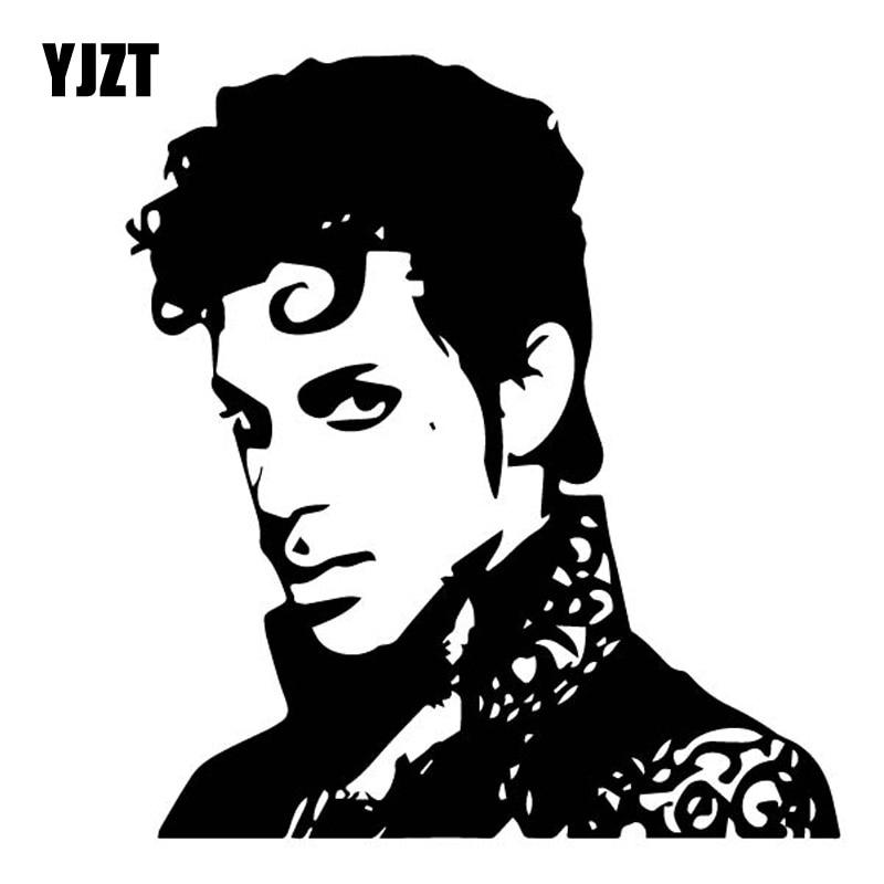 YJZT 14CM*15.3CM Dazzling The Artist Singer Vinly Decal Prince Rogers Nelson Car Sticker Nostalgic Black/Silver C27-0541