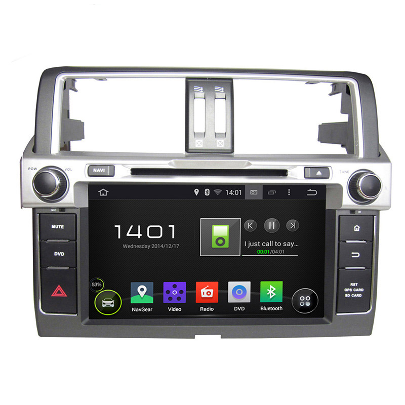 Rockchip 33188 Cortex A9, 4-core 1024*600 9'' Pure Android 5.1.1 Car Radio for Toyota Prado 2014 DVD+ GPS+BT+Radio+AUX IN+DVR