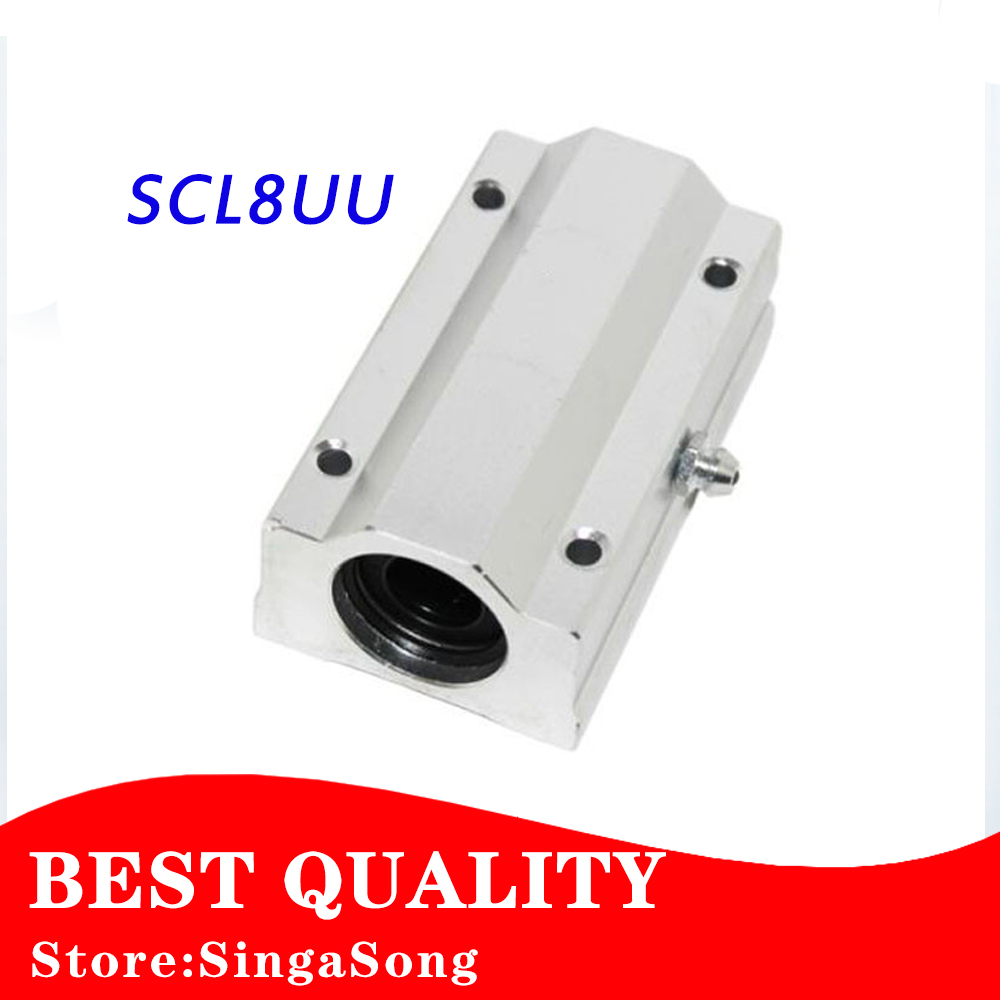 Free shipping 4pcs/lot SC8LUU SCS8LUU 8mm Linear Ball Bearing Block CNC Router pillow for XYZ free shipping sc16vuu sc16v scv16uu scv16 16mm linear bearing block diy linear slide bearing units cnc router