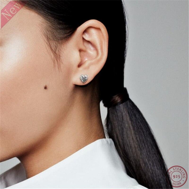 2018 Autumn Release S925 Sterling Silver Regal Hearts Earring Stud Earrings