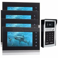 DIYSECUR 7 Inch Touch Button Video Door Phone Intercom Doorbell IR Night Vision HD 300000 Pixels