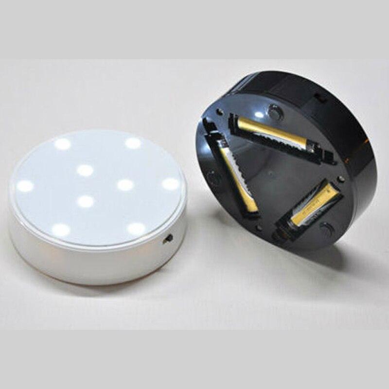 10 шт./лот 4 дюйма круглые светодиодные Ваза Свет Fish Tank базы на батарейках свечение бутылку booth огни Для свадебной вечеринки украшения