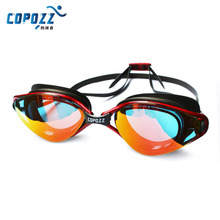 Copozz Professional Waterproof Silicone Adjustable Glasses Plating Shockproof Anti-Fog UV Swimming Goggles Adult Eyewear