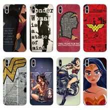 Wonder Woman Superman Justice League DC Komik Lembut Silicone Ponsel Case Penutup Capa untuk iPhone X10 XR 7 8 PLUS 6 7 5 5 S SE(China)