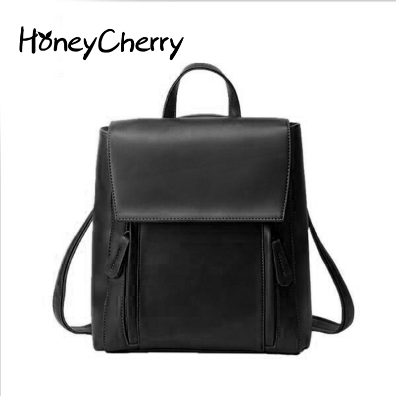 2016 Winter New Korean Fashion Leisure All-match Simple Backpack School Multi-purpose Bag Retro Wind Preppy Style Backpack the new spring and summer 2017 singles simple japanese variety diagonal bag bag leisure all match original bag