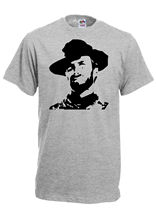 CLINT EASTWOOD silhouette cowboy western T-Shirt, print t shirt, retro unisex Funny Tops Tee New Unisex free shipping