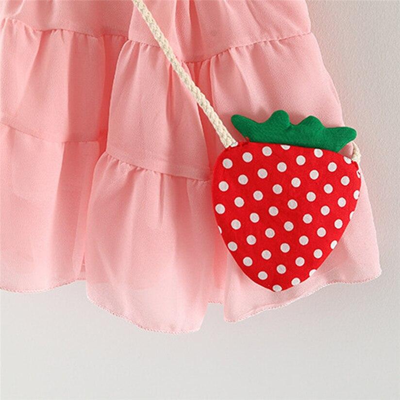 Toddler Girls Summer Sleeveless Strawberry Princess Party Wedding Dresss piccola principessa vestito De baby. #5