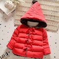 High quality winter style warm clothes kids outerwear baby girls bowknot Snow Wear babys Hoodies clothing