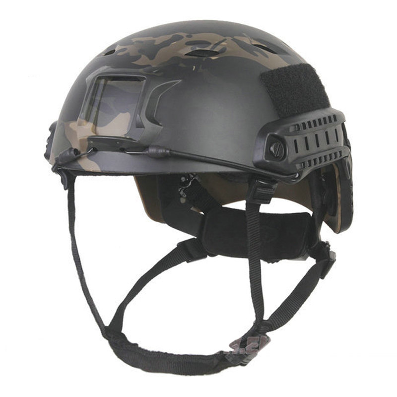 Emersongear FAST Helmet Base Jump Tactical protective MCBK&WG BJ TYPE Hunting Military Airsoft Combat sports safety Helmet militech fast aor2 bj high cut style vented airsoft tactical helmet ops core style base jump training helmet air soft helmet