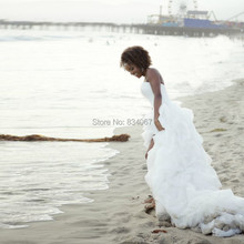New Design Beach Wedding Dress with Train