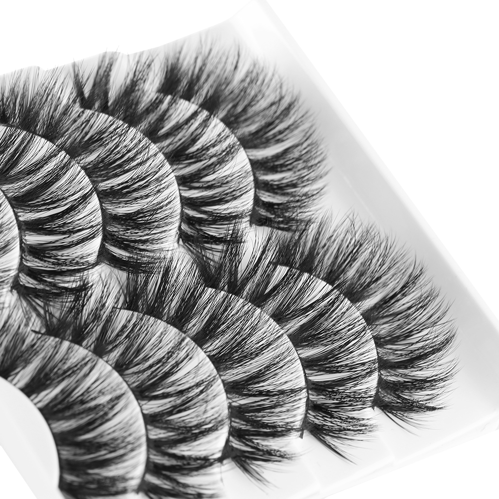 5pairs 3d Mink Hair False Eyelashes Wispy Fuller Thick Lashes Natural Long Lashes Handmade Eye Makeup Tools Rich In Poetic And Pictorial Splendor Beauty Essentials