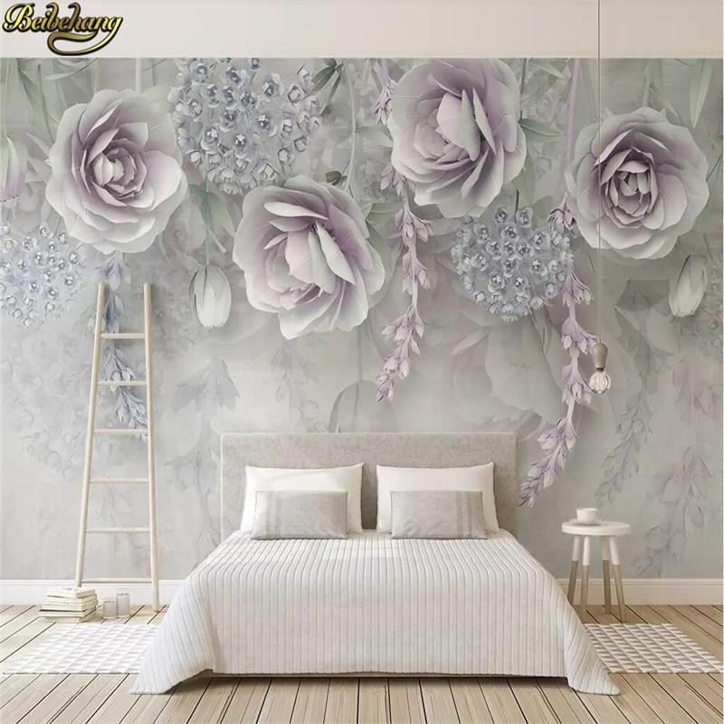 8 15 41 De Reduction Beibehang Papier Peint 3d Marbre Diamant Bijoux Rose Tv Fond Mural Papier Peint Pour Salon Papier Peint Decoration De La