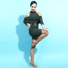 Sexy Strapless Ballroom Latin Competition Dance Dress Women For Cha Cha Rumba Samba Dancing Evening Dresses Latino Wear