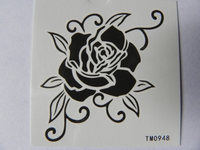Sexy Rose Shoulder Back Neckarm Temporary Tattooswaterproof