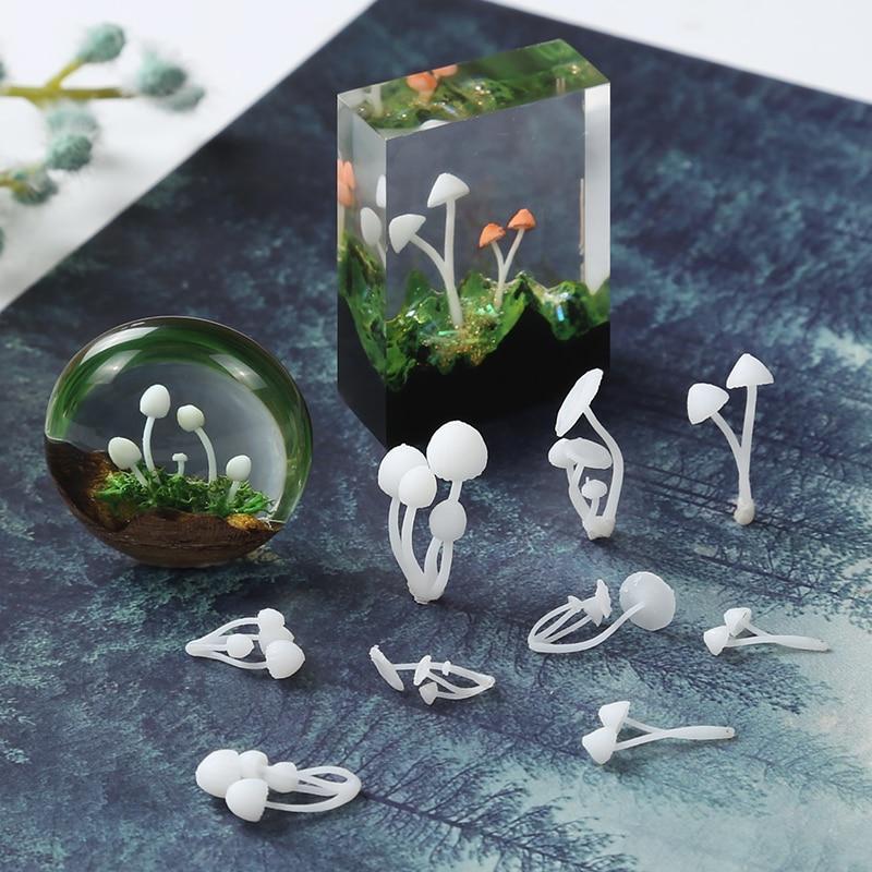 3pcs/lot 3D Micro Landscape Mini Mushroom Film DIY Craft Nail Handmade Resin Jewelry UV Epoxy Jewerly Filling Molds Tool
