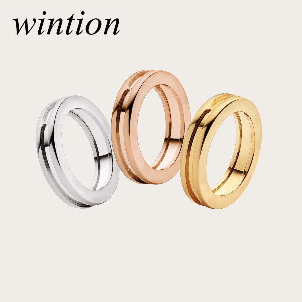 WinTion BULGARIA charm original ring classic logo three color optional temperament retro unisex jewelry factory direct sales