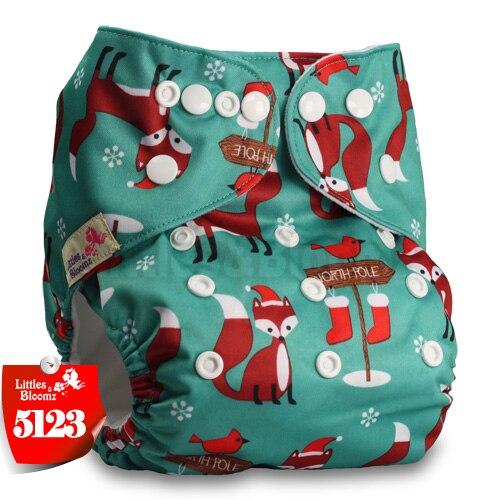 Littles& Bloomz детские моющиеся многоразовые подгузники из настоящей ткани с карманом для подгузников, чехлы для подгузников, костюмы для новорожденных и горшков, один размер, вставки для подгузников - Цвет: 5123