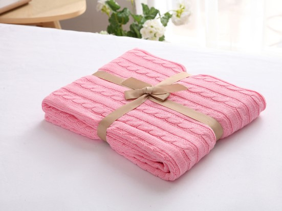 Image 5 - CAMMITEVER 100% Cotton Warm Soft Fleece Blankets Thick Plush Throw Sofa Bed Plane Plaids Solid Bedspreads Home Textile-in Blankets from Home & Garden