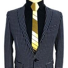 NEW ARRIVAL Acrylic Gold  Mirror Tie Geometric Model Handmade Fashion Slim Ties Neckties