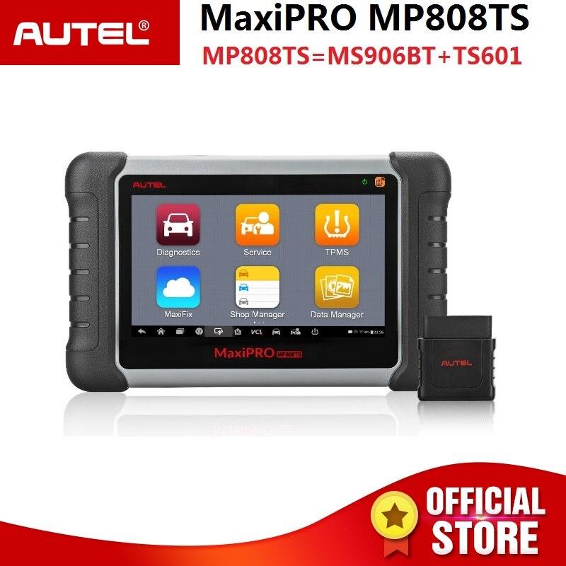 Autel MaxiPRO MP808TS автомобильный диагностический сканер инструмент (комбинация DS808 + TPMS) решения TPMS полная диагностическая функция
