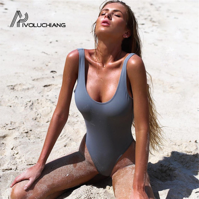 swimsuits sexy one piece womens thong tan