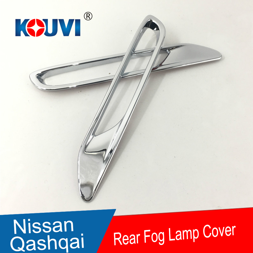 2 Pcs/lot for Nissan Qashqai J11 2017 2018 ABS Chrome Rear Tail Fog Light Lamp Cover Sticker Decoration Trim Accessories(China)